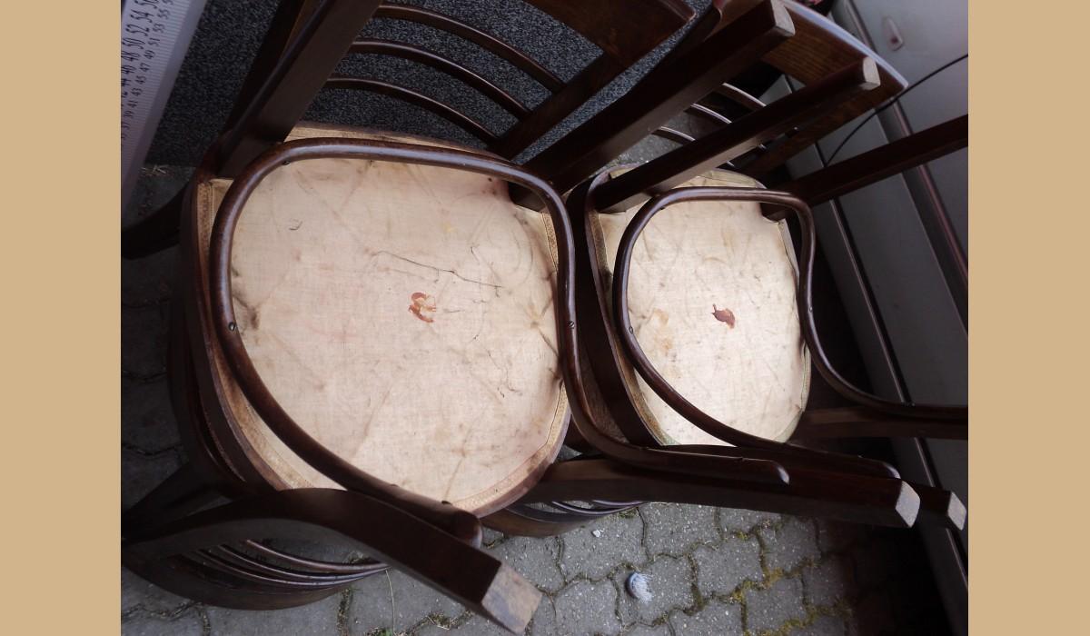 Sedie Depoca : 4 sedie depoca in castagno massello lucidate e tappezzate epoca