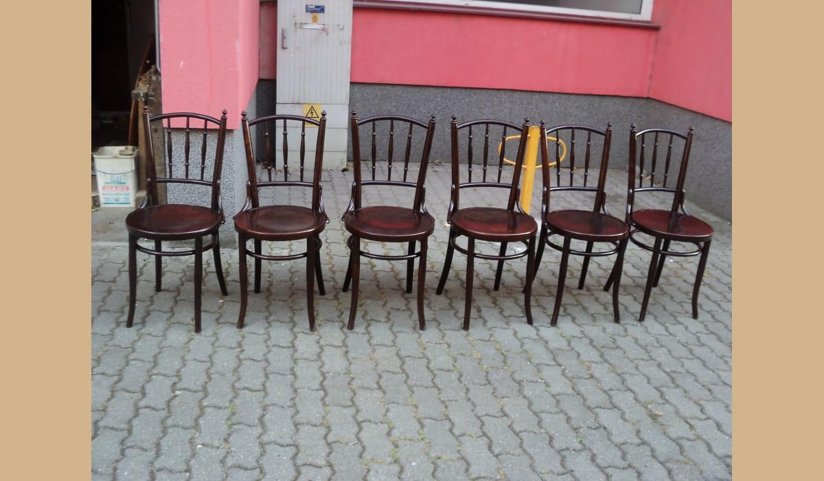 6 Sedie Thonet.6 Sedie Thonet Restaurate Mundus Budapest Vienna Intarsiate