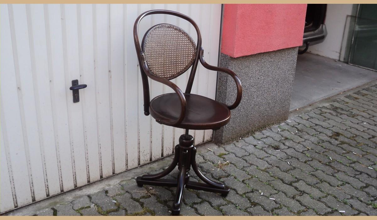 Sedia da barbiere thonet restaurata { sedia molto elegante }