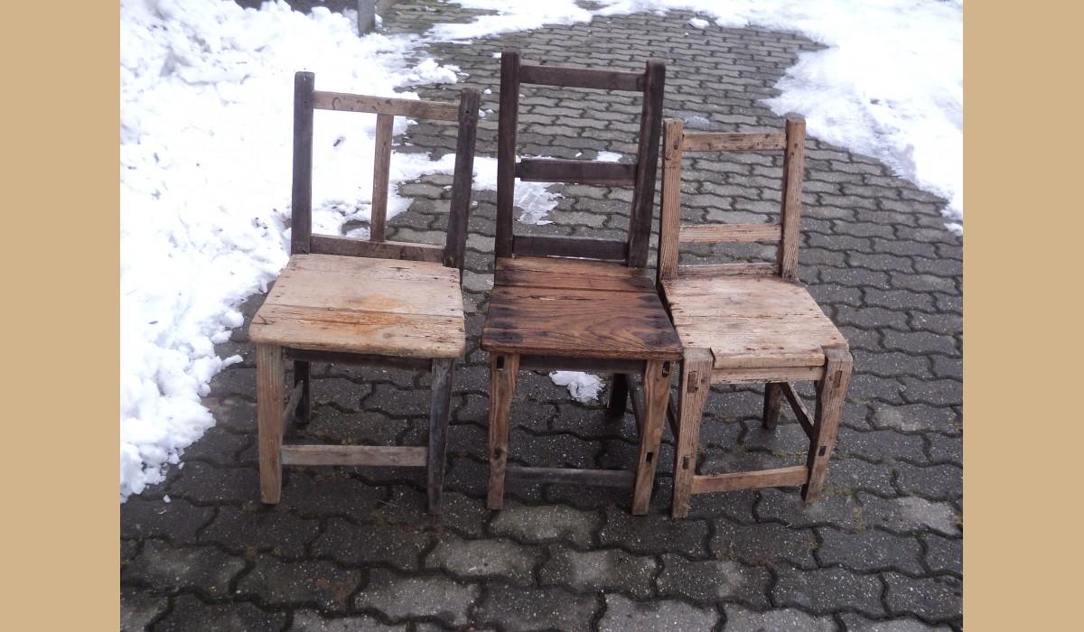 Sedie Rustiche In Legno.3 Sedie Rustiche In Legno Duro Depoca Da Restaurare Le Sedie Sono