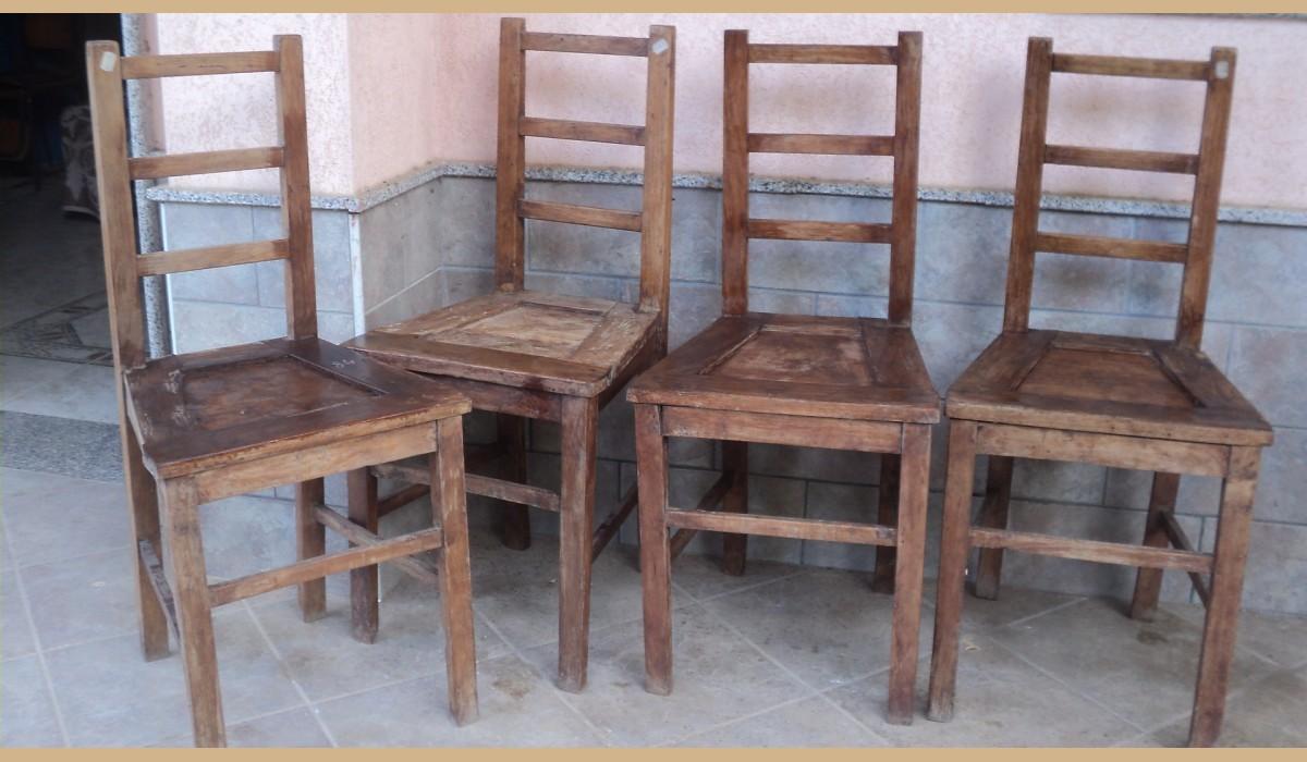 oggetti rustici : sedie in massello di ciliegio rustiche 400 euro { solide e in buono ...