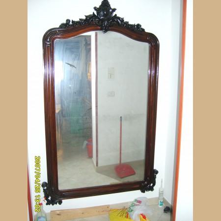 Specchiera antica in mogano restaurata con specchio al mercurio alt 188 lar 124 - Specchio al mercurio ...